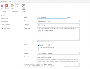 sharepoint-document-metadata